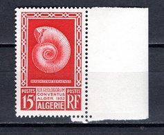 ALGERIE N° 297  NEUF SANS CHARNIERE COTE  6.35€  GEOLOGIE  PREHISTOIRE - Algérie (1924-1962)
