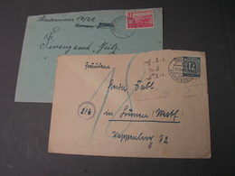 Briefe - Sowjetische Zone (SBZ)
