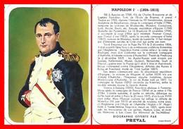 CHROMOS. Beurre PREVAL. Les Rois De France. NAPOLEON 1er...D920 - Artis Historia