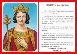 CHROMOS. Beurre PREVAL. Les Rois De France. PHILIPPE V Le Long...D641 - Artis Historia
