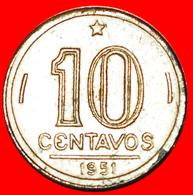 # DOUBLE DATE: BRAZIL ★ 10 CENTAVOS 1951 JOSE BONIFACIO (1763-1838)! LOW START ★ NO RESERVE! - Brasil
