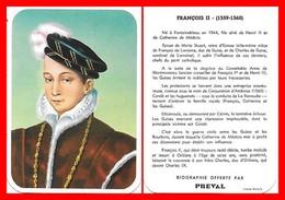 CHROMOS. Beurre PREVAL. Les Rois De France. FRANCOIS II...D639 - Artis Historia