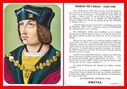 CHROMOS. Beurre PREVAL. Les Rois De France. CHARLES VIII L'affable...D931 - Artis Historia