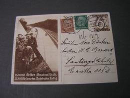 DR Bildkarte Adolf Am Spaten Used Nach Chile , Bug Mitte 1937 - Storia Postale