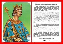 CHROMOS. Beurre PREVAL. Les Rois De France. LOUIS IX (saint-louis)...H001 - Artis Historia