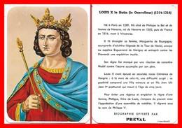 CHROMOS. Beurre PREVAL. Les Rois De France. LOUIS X Le Hutin...H004 - Artis Historia