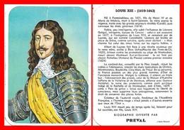 CHROMOS. Beurre PREVAL. Les Rois De France. LOUIS XIII...H005 - Artis Historia