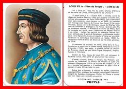 CHROMOS. Beurre PREVAL. Les Rois De France. LOUIS XII  Le Père Du Peuple...H006 - Artis Historia