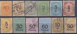 GERMANIA - Antichi Stati - Francobolli Ferroviari; Lotto/miscellanea Di 12 Valori Diversi, Come Da Immagine. - Unclassified
