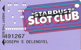 Stardust Casino - Las Vegas NV - Slot Card - Large PPC (Not Shaded) - Casino Cards