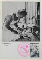 CP. Philatélique - 1er Jour - Croix-Rouge - Infirmière - St-Etienne Le 10.12.1966 - En TBE - 1960-69