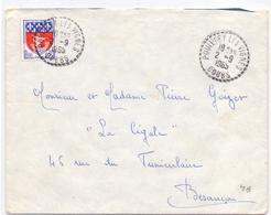 France Lettre Obl Pouilley Les Vignes Doubs - Marcophilie (Lettres)