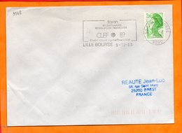 NORD, Lille, Flamme SCOTEM N° 9568, Flasen Bicentenaire De La Révolution, Comite Liberte Egalite Fraternite - Oblitérations Mécaniques (flammes)