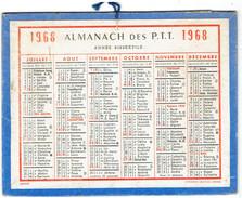 CALENDRIER CARTONNE 1968 IMPRIMEUR OBERTHUR - Calendars