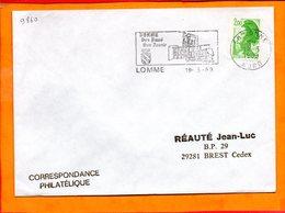 NORD, Lomme, Flamme SCOTEM N° 9860, Son Passé Son Avenir - Oblitérations Mécaniques (flammes)