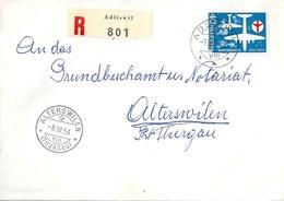 R Brief  Adliswil - Alterswilen           1956 - Storia Postale