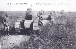 56 - Morbihan -  Camp De COETQUIDAN - Section De Chars D Assaut Se Rendant A La Manoeuvre - Militaria - Frankreich