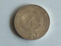ALLEMAGNE 20 MARK 1966 ARGENT SILVER Germany Deutschland Drei - [ 6] 1949-1990 : RDA - Rep. Dem. Alemana