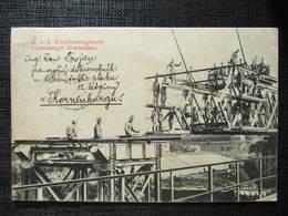 AK KORNEUBURG Brückenschlag 1913 ///  D*32971 - Korneuburg