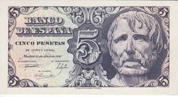 BILLETE DE 5 PTAS DEL AÑO 1947 SERIE A DE SENECA  SIN CIRCULAR - UNCIRCULATED   (BANKNOTE) - 5 Pesetas