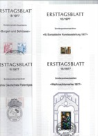 BERLIN 4 DOCUMENTS  ERSTTAGSBLATT N° 8 11 12 Et 15  De 1977 - [5] Berlin
