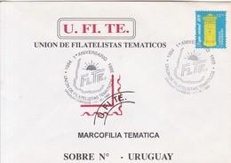 1°ANIVERSARIO UFITE UNION DE FILATELISTAS TEMATICOS. CORREOS URUGUAY. OBLIT 1995- BLEUP - Uruguay