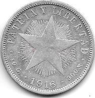 *cuba 40 Centavos 1916 Km 14.3 - Cuba