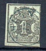 Hannovre / N 2 / 1 G Vert / Oblitéré / Côte 10 € - Hanovre