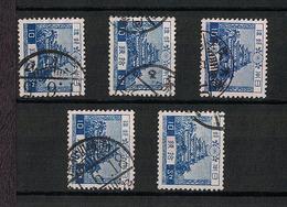 Japan 1926.07.05 Mi:179 Definitive 5sets(used) - Usados