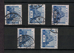 Japan 1926.07.05 Mi:179 Definitive 5sets(used) - Usati