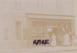 PHOTO,PHOTOGRAPHIE ANCIENNE,01,AIN,BOURG EN BRESSE,1924,GRAND EPICERIE DU BOULEVARD,COMMERCE MARIUS PIN - Lieux
