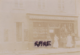 PHOTO,PHOTOGRAPHIE ANCIENNE,01,AIN,BOURG EN BRESSE,1924,GRAND EPICERIE DU BOULEVARD,COMMERCE MARIUS PIN - Places