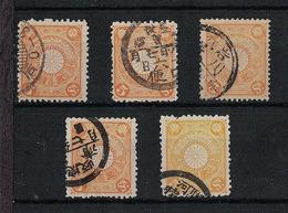 Japan 1899.10.01 Mi:80 Definitive 5sets(used) - Usados