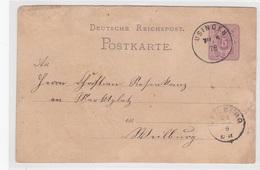 Karte Von 1878, Von Laubach / Amt Usingen Nach Weilburg - Historical Documents
