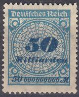 GERMANIA -  ALLEMAGNE - 1923 - Yvert 325 Nuovo MH, Come Da Immagine. - Nuevos