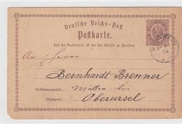 Karte Von 1874, Von Wehrheim/Ts. Nach Oberursel - Historical Documents