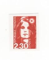 Briat 2fr30 Rouge YT 2614 : Faux De Seine Et Marne , Non Dentelé Et Sans Phosphore + Normal ND . Rare , Voir Les Scans . - Errors & Oddities