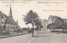 KORNEUBURG (NÖ) - Pfarrkirche, Laaer-Ring, Knaben- Volks- U.Bürgerschule, Gel.1908 - Korneuburg