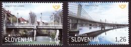Slovenia 2018 Europa CEPT, Bridges Bruecken Ponts Architecture, Set MNH - 2018