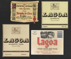 4 ADVERT ALGARVE LAGOA LABEL WINE VINHO  PORTUGAL WINES VIN VINS - Labels