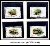 SIERRA LEONE - 1982 Death Centenary Of CHARLES DARWIN / REPTILE - 4V - MNH - Sierra Leone (1961-...)