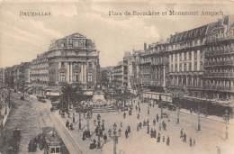 BRUXELLES - Place De Brouckère Et Monument Anspach - Lanen, Boulevards