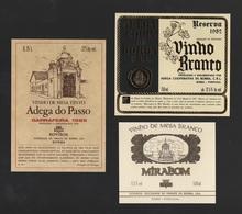 3 ADVERT BORBA ALENTEJO LABEL WINE VINHO  PORTUGAL WINES VIN VINS - Etiquettes