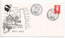 France 1993 Ile Rousse, Immaculate Conception Church Centenary Cover - Postmark Collection (Covers)
