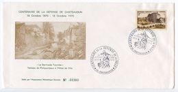 France 1970 Defense Of Chateaudun Centenary Cover - Postmark Collection (Covers)
