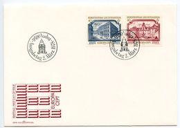 Liechtenstein 1978 Scott 636-637 FDC Europa, Vienna Palace & Feldsberg Castle - FDC
