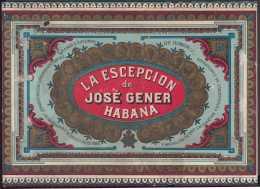 T131 CUBA SPAIN S.XIX. LA ESCEPCION DE JOSE GENER TOBACCO. HABILITACION DE TABACO. - Labels