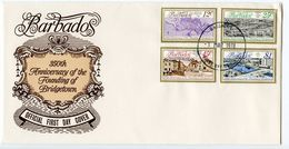 Barbados 1978 Scott 470-473 FDC Founding Of Bridgetown 350th Anniversary - Barbados (1966-...)