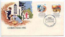Australia 1981 Scott 811 & 813 FDC Christmas Carols - FDC