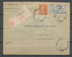 1817 Recommandé N°297 Jacques Cartier Canada Langon Gironde Pour Castres Tarn Cachet De Cire - Marcophilie (Lettres)